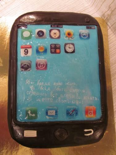 Фото торт из смартфона