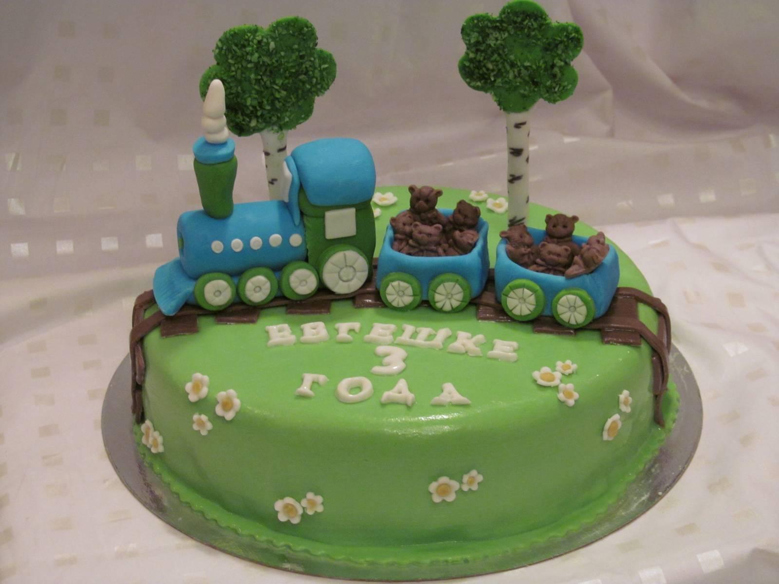 Торт в виде паровозика своими руками фото